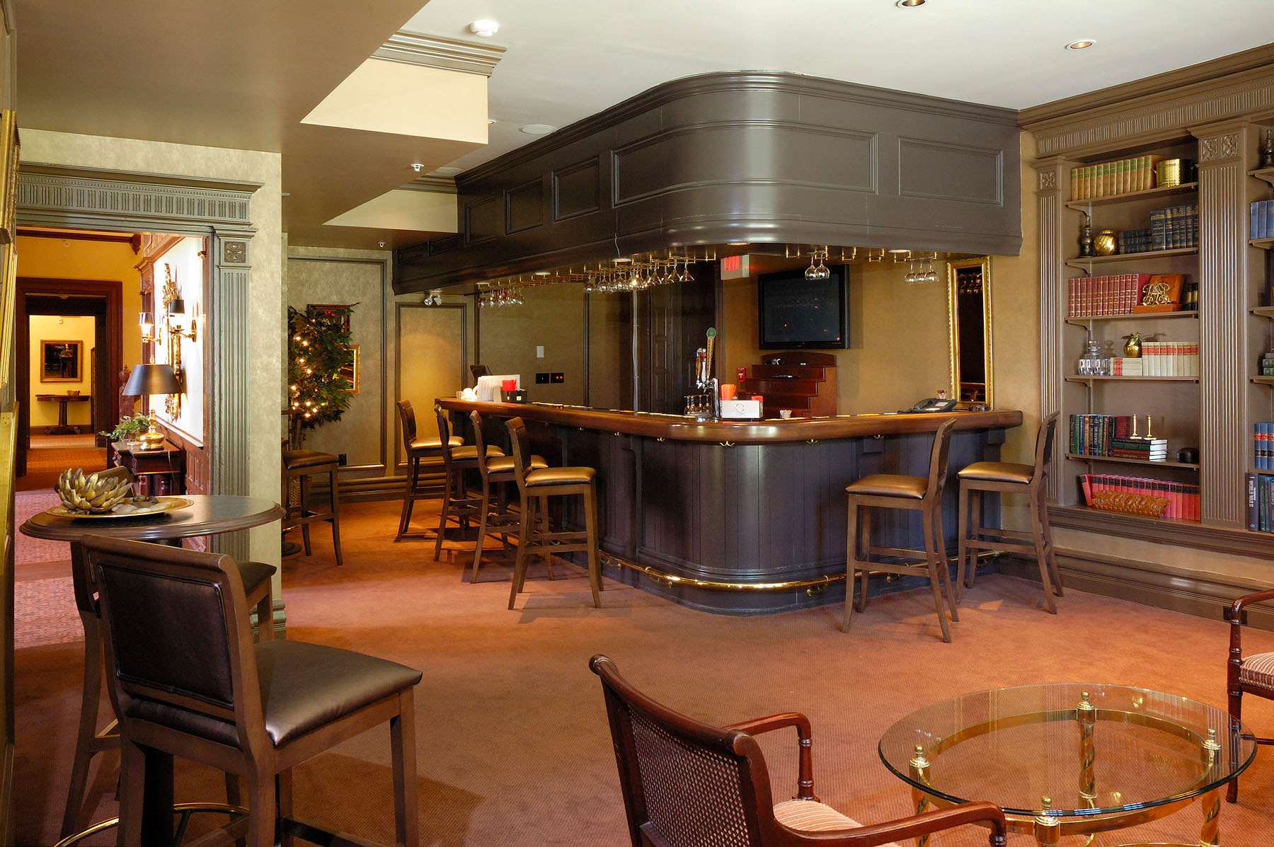 Original Casual Dining Room Converted To Bar